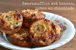 Kwarkmuffins met banaan