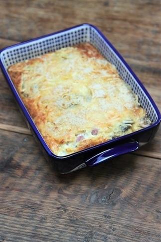 Ovenomelet met ham, kaas en champignons