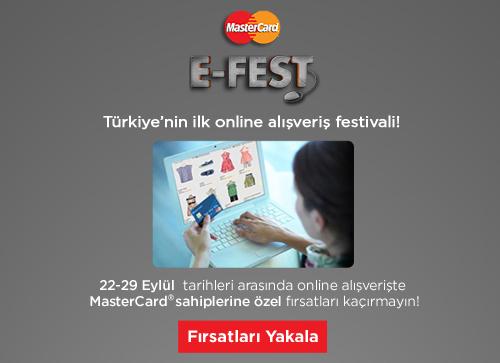 MasterCard E-Fest online alışveriş festivali başlıyor!