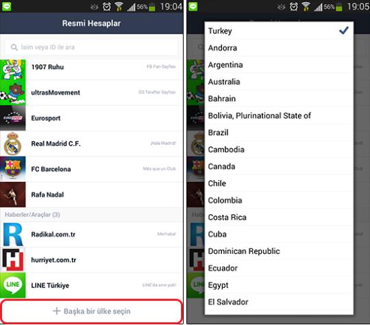 Mobil Platform Line, Mesajlaşma Platformu, Resmi Hesap Takipleri ve İndirimler