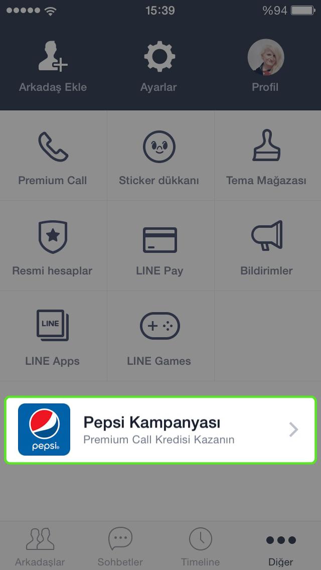 line pepsi ekra 20152403015113844 LINE ve Pepsi sevdiklerinle yaya yaya konuş diye var!