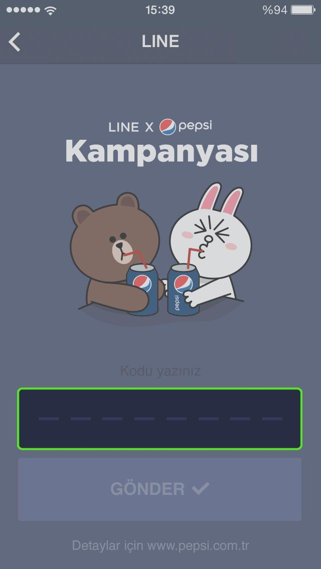 line pepsi ekra 20152403015159938 LINE ve Pepsi sevdiklerinle yaya yaya konuş diye var!
