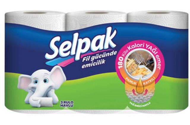 Selpak'tan Türkiye'de bir ilk: Selpak Yağ Emici Havlu Tek yaprakla 180 kilokaloriye kadar yağ emiyor!