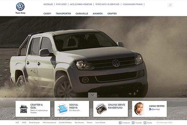 Volkswagen Ticari Araç'ın yeni web sitesi göz hareketlerini takip ediyor