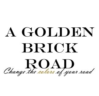 A golden brick road