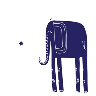 Midnight Blue Elephant
