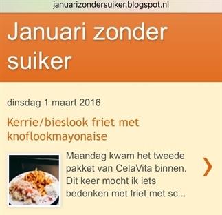 Januari zonder suiker