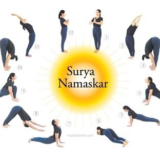 güneşe selam yogası ile hızlı yağ eritin  yazarkafe